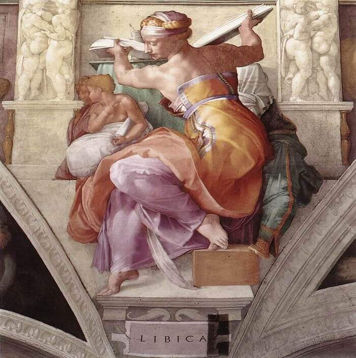 The Libyan Sibyl by Michelangelo